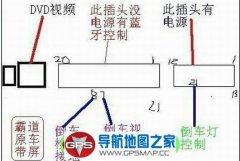 09款丰田霸道原车屏加装后视摄像头接线图
